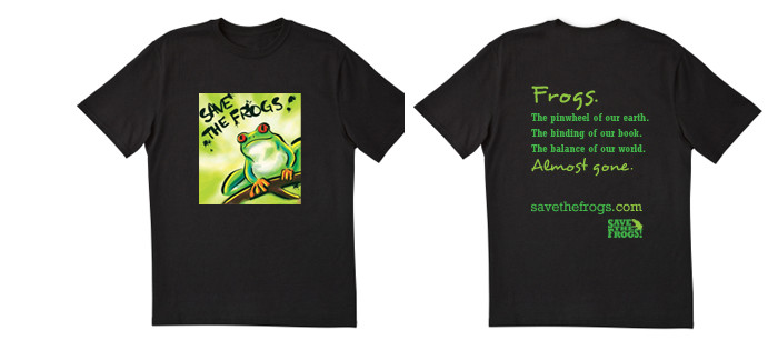 Save the Frogs, buy a t-shirt from savethefrogs.com